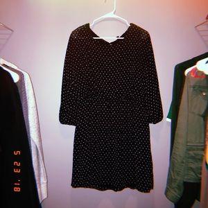 polka dot dress, size large.